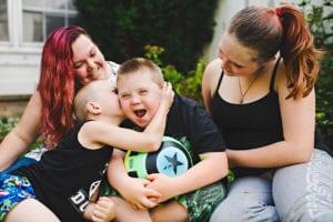Samantha, Harley, Taylor and Decklyn. Photo by Hilary Gauld-Camilleri