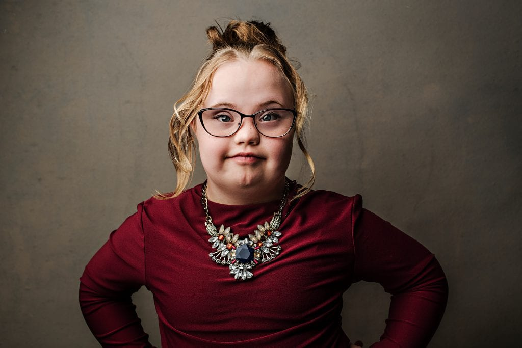 "Jessica. Jessica's family: ""People with Down syndrome have the ability to be role models. My daughter is an active and loved part of her community and school."" (Photo: Hilary Gauld Camilleri)"