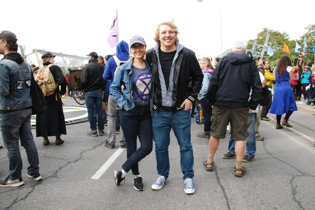 Kate Petriw and Kevin Imrie are members of Extinction Rebellion. (Photo: Aleysha Haniff)