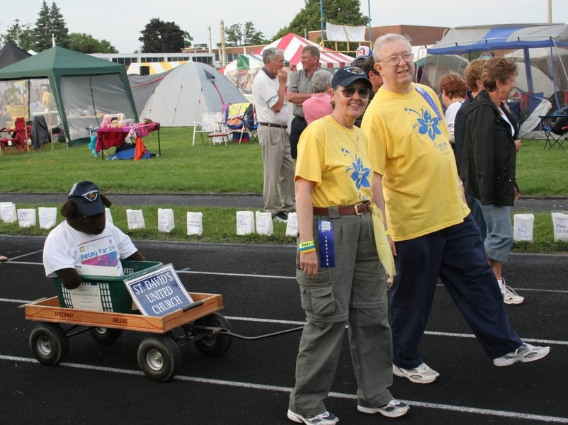 Gladly was St. David's mascot in the Relay for Life. (Photo courtesy Doug Richards)