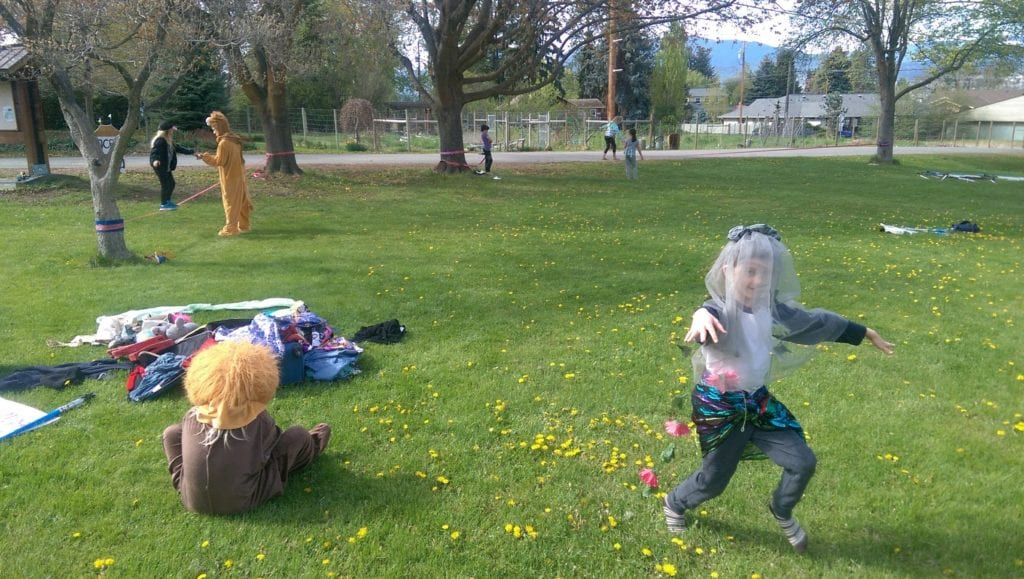 Kids play in Naramata, B.C.