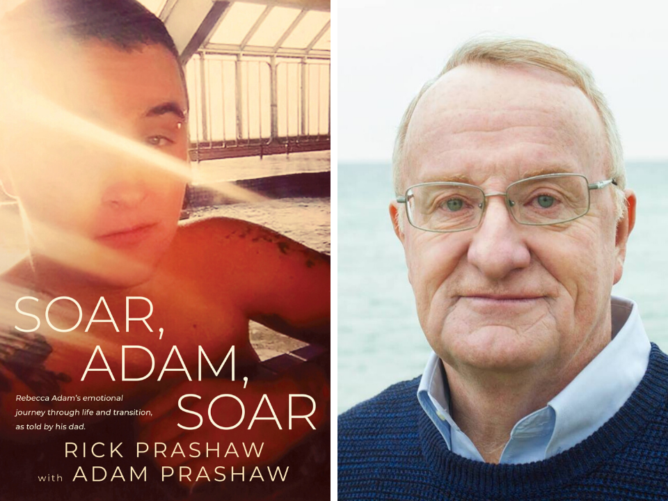 "Left, the cover of ""Soar, Adam, Soar."" At right, author Rick Prashaw. (Photos courtesy Durdurn Press Limited and Rick Prashaw)"